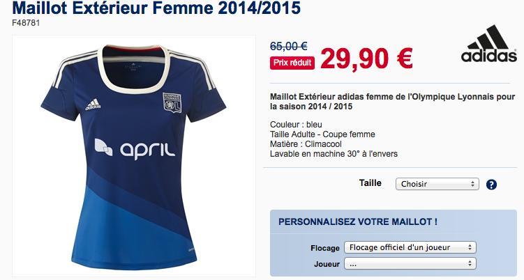 Maillot Olympique Lyonnais Femme