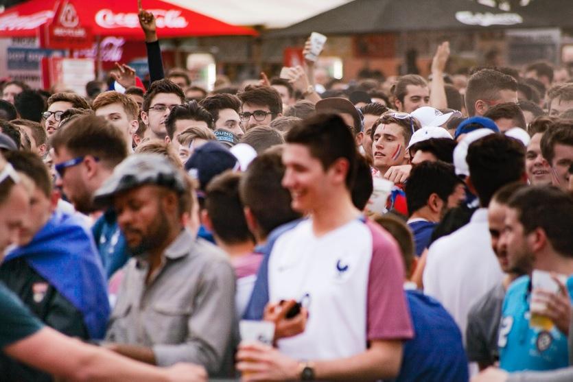 Un écran géant pour la demi-finale France / Belgique — Montpellier